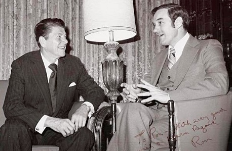 Ronald Reagan and Ron Paul