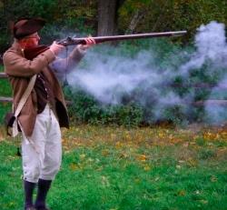 Soldier firing musket