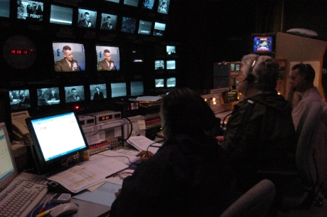 TV news control room