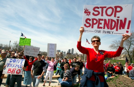 Tea Party protest-stop spending