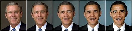 Bush becomes Obama
