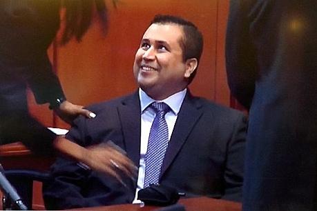 Zimmerman smiles-not guilty
