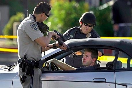Cop targeting random man