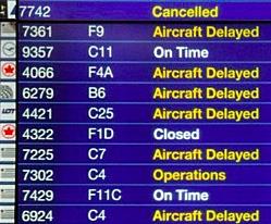Delayed or canceled