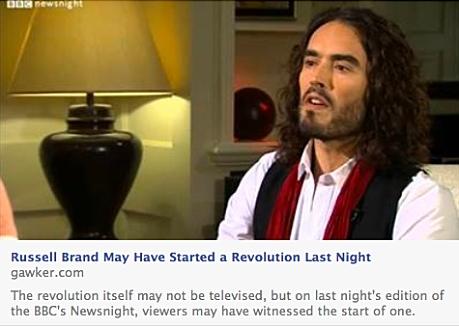 Russell Brand on Newsnight