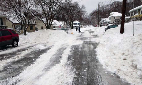 Plowed street in Suffern, N.Y