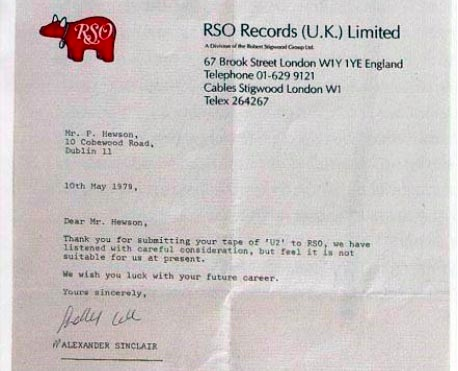 U2 rejection letter